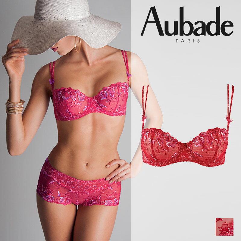 【60%OFF!!】Aubadeオーバドゥハーフカップブラ Cherie on the Cake(ピンク)カラー(GA14)B,Cカップ