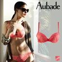 【60%OFF!!!】フランス【Aubade】オーバドゥSouffle d'Hiver Terre de Feu(ピンク)カラーダブルパデッドブラ