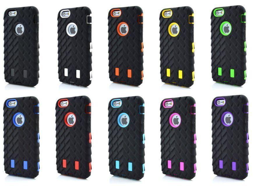 iPhone6 iPhone7 iPhone8 シリコンケース プラケース ハイブリッド タイヤパターン 自動車 カー アップルマーク窓付き! 人気商品