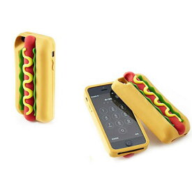 iPhone5 iPhone5s SE iPhone6 iPhone7 iPhone8 iPhoneX 耐衝撃 シリコンケース ホットドッグ!! おもしろジョーク 食品 フード 食べ物 パン ソーセージ プレゼント パーティ イベント
