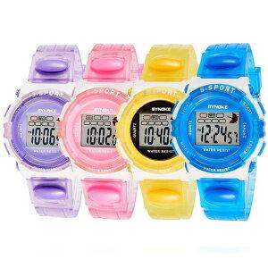 SYNOKE モデル99268 キッズ(子供用)ウォッチ スポーツウォッチ 腕時計 シリコンバンド パステルカラー かわいい