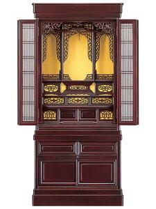 唐木仏壇(台付き) 志輪45号桜色(高さ:136.2cm 幅:62.1cm)