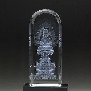仏具 仏像 クリスタル 癒しの仏像 大日如来 真言宗 LED照明台座付 DB-3
