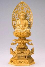 仏像 釈迦如来 座釈迦 3.0寸 樟製 ケマン座【適合宗派:臨済宗、曹洞宗、天台宗、日蓮宗等】