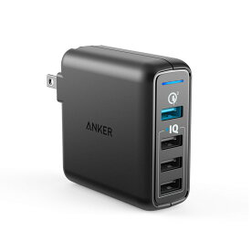 急速充電器 Anker PowerPort Speed 4 USB急速充電器 QC3.0搭載 43.5W 4ポート ACアダプタ iPhone、iPad、Android各種対応
