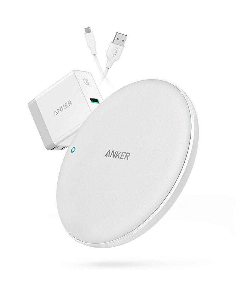 Anker PowerWave 7.5 Pad(7.5W ワイヤレス充電器)【Quick Charge 3.0対応急速充電器付属】iPhone X / 8 / 8 Plus、Galaxy各種対応