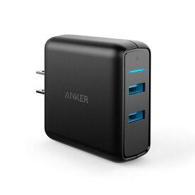 急速充電器 Anker PowerPort Speed 2 USB急速充電器 QC3.0 2ポート搭載、39.5W 2ポート ACアダプタ iPhone、Android各種対応