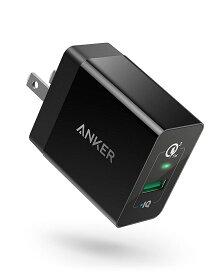 【改善版】Anker PowerPort+ 1 (18W USB急速充電器) 【PSE認証済/PowerIQ搭載/折りたたみ式プラグ搭載 / QC3.0対応】Galaxy S10 / S9、iPhone、iPad 他対応
