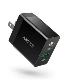 急速充電器 Anker PowerPort+ 1 USB急速充電器 (Quick Charge 3.0 18W ) Galaxy S7 / S6/ Edge/Plus、 Note 5 / 4、LG G4、Nexus 6、iPhone、iPad 他対応 (ブラック)