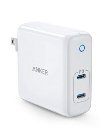 Anker PowerPort Atom PD 2(PD対応 60W 2ポート USB-C急速充電器)【PSE認証済/Power Delivery対応/GaN (窒化ガリウム) 採用/コンパクトサイズ/折りたたみ式プラグ搭載】iPhone XS/XS Max/XR/X、Galaxy S9 / S9+、MacBook、その他USB-C機器対応 (ホワイト)