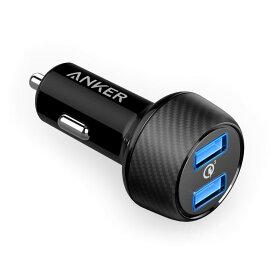 急速充電器 Anker PowerDrive Speed 2 Quick Charge 3.0 カーチャージャー( Power IQ対応 39W 2ポート / PSE認証済 ) iPhone / iPad /Android各種対応 シガーソケットチャージャー