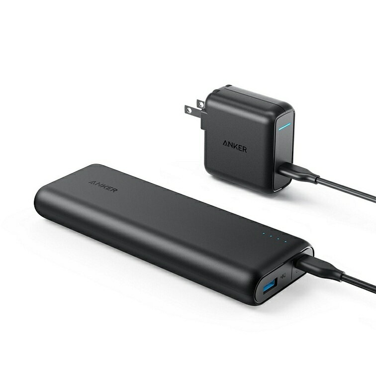 Anker PowerCore Speed 20000 PD 最軽量( Power Delivery対応 20100mAh モバイルバッテリー)【USB-C急速充電器付属】iPhone & Android対応 *2017年12月時点