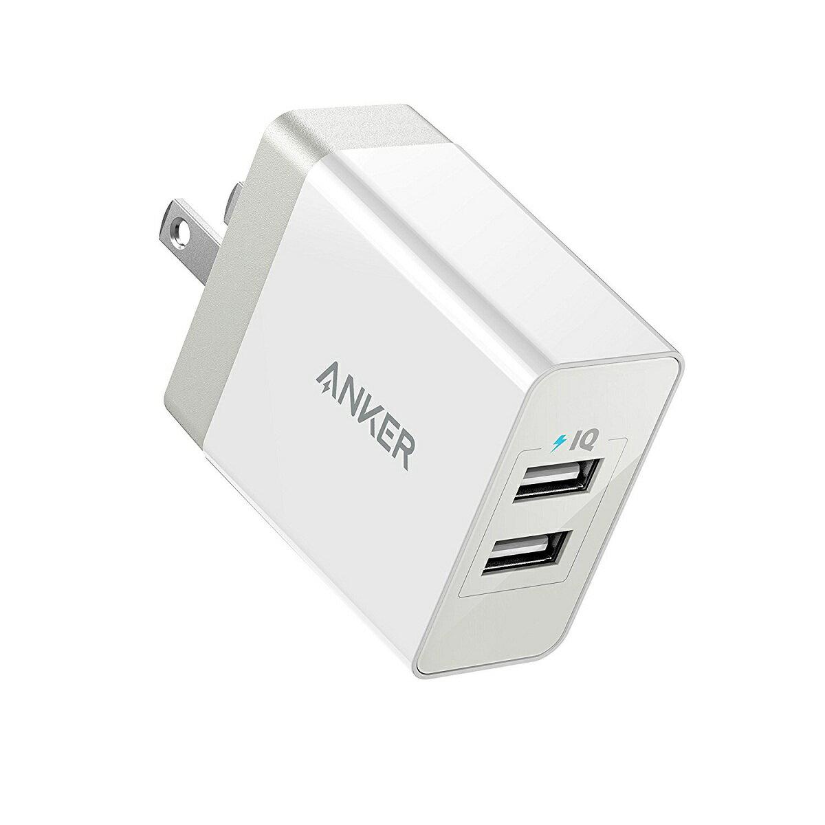 Anker PowerPort 2 Eco (12W 2ポート USB急速充電器) iPhone / iPad / MacBook / Android 各種対応【折り畳み式プラグ / PowerIQ & VoltageBoost】