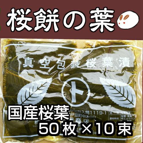 【桜の葉50枚×10束】国産 桜の葉 塩漬け 50枚×10束 桜餅の葉っぱ 桜餅