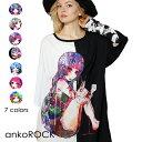 ankoROCK アンコロック Tシャツ メンズ レディース ユニセックス 半袖 プリントTシャツ 派手 オーバーサイズ ワイドシ…
