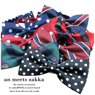 Mens Choker ladies Ribbon bowtie Butterfly Thailand Ribbon tie check dot flashy punk rock fashion rock / shiny bow tie pattern, プレップバリエーション zakka meets an unique personality sect アンコロック Hara-Juku series stage Street