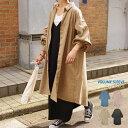 ワンピース シャツワンピ 長袖 レディース ファッション ゆったり 体型カバー ボリュームスリーブ ピーチスキン 秋 冬 30代 40代 プチプラ