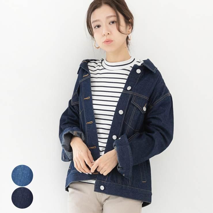 デニムジャケット レディース ファッション ゆったり 40代 30代 Gジャン オーバーサイズ カジュアル トレンド 人気 春 アウター