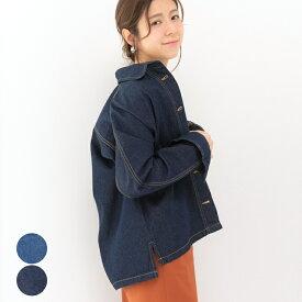 デニムジャケット レディース ファッション ゆったり 40代 30代 Gジャン オーバーサイズ カジュアル トレンド 人気 アウター