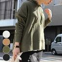 パーカー レディース ファッション ゆったり 大きいサイズ 30代 40代 トップス 長袖 ワッフル サーマル カジュアル シンプル 無地 アンルル