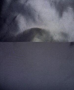 【生地カット売り】【訳あり】【B反】【制電・防塵・撥水】【遮光2級】【気密・光沢・軽量】軽くて気密な遮光生地黒生地KYKシレータフタ【1m単位】軽い雨ならばはじく撥水性と気密性と光沢あり。ダウンのコートやジャンバーに使用生地
