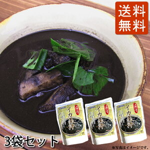 イカスミ汁(500g)3袋セット 送料無料 イカ墨汁 かつお風味 沖縄料理(常温)