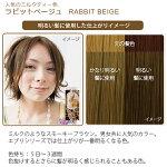 エブリヘアカラー(医薬部外品)ラビットベージュ明るい髪に使用したイメージ