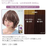 エブリヘアカラー(医薬部外品)ラベンダーシェル明るい髪に使用したイメージ