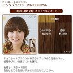 エブリヘアカラー(医薬部外品)ミンクブラウン明るい髪に使用したイメージ