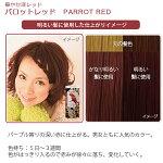 エブリヘアカラー(医薬部外品)パロットレッド明るい髪に使用したイメージ