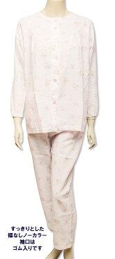 コットン混4柄【ベトつかない】涼感コットン混長袖パジャマ♪シャリ感で肌にさわやかベトつかない夏パジャマ♪