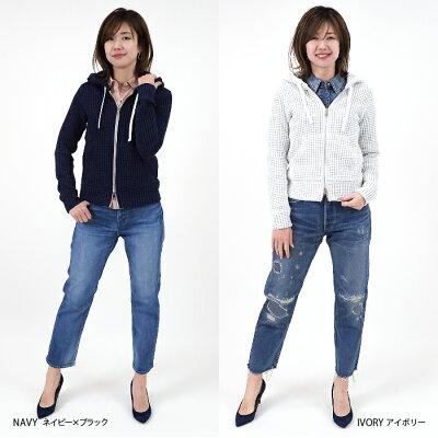 【SeaGreen/シーグリーン】ワッフルパーカーLSG19S8553/ワッフル織オニワッフル