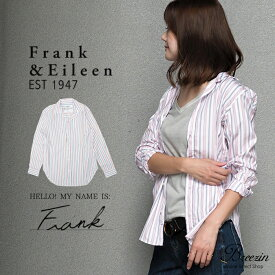【Frank&Eileen/フランクアンドアイリーン】ストライプシャツ Frank 2910700309 RED & BLUE ストライプ 赤青 ブラウス 綿