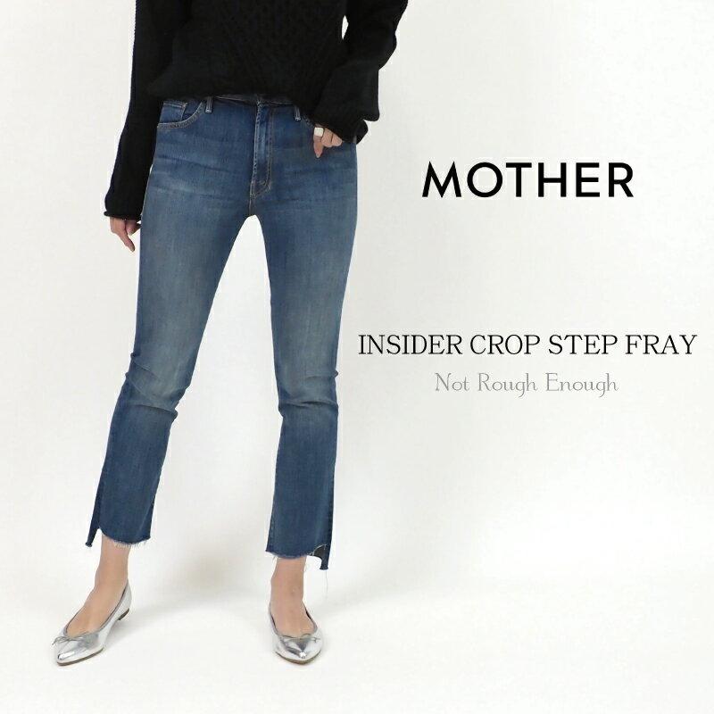 全商品ポイント10倍!【MOTHER/マザー】カットオフウォッシュクロップ丈デニムパンツ Insider Crop Step Fray Not Rough Enough Jeans 9910600052