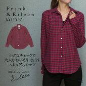 【Frank&Eileen/フランクアンドアイリーン】レッド×ネイビーフランネルチェックシャツ3010700217023/RED/レッド/赤