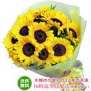 大輪のひまわり10本の花束【送料無料】翌日配送 向日葵 ヒマワリ