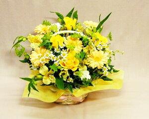 【父の日】黄バラガーベラのアレンジ