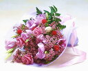 【あす楽16時まで受付】【季節のお花・花束】バラとトルコ桔梗のエレガントブーケ【あす楽対応】女性 ギフト 花 誕生…