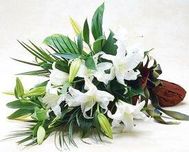 【あす楽16時まで受付】【季節のお花・花束】カサブランカの花束【あす楽対応】