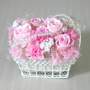 プリザーブドフラワー真珠とバラの淑女