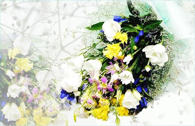 【あす楽16時まで受付】【お供え 花】花束3 お盆 初盆 お彼岸 彼岸 彼岸花 即日 送料無料 アレンジ 花束 お供え花 喪中お見舞い