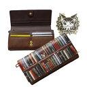 【送料無料/メール便選択可】【Bebe Dayan】猫のダヤンのカブセタイプ長財布(2カラー:ネイビー・ブラウン)