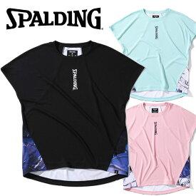 【ゆうパケット配送】 スポルディング BASKETBALL フレンチスリーブTシャツ マーブルボール SWT200540 レディース