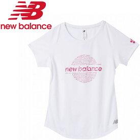 【ゆうパケット配送】 ニューバランス Sakura グラフィックショートスリーブTシャツ AWT0108Y-WT レディース