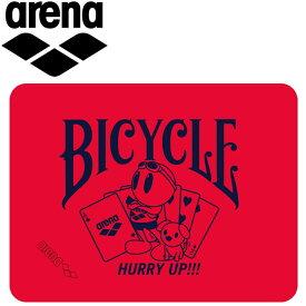 アリーナ 水泳 BICYCLE セームタオル M FAR-9925-RED