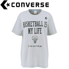 【ゆうパケット配送】 コンバース バスケットボール プリントTシャツ レディース CB392301-1300