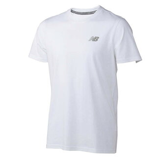 ○17SS New Balance (New Balance) Small logo T AMT71672-WT men