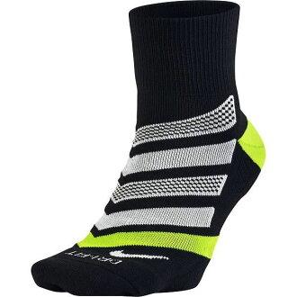 ○18SP NIKE(耐吉)DRI-FIT跑步靠墊動力拱門四分之一短襪SX5467-010