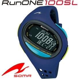 SOMA(ソーマ) ランニングウォッチ RunONE 100SL Large バイオレット DWJ080003