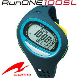 SOMA(ソーマ) ランニングウォッチ RunONE 100SL Large ネイビー/オキシブルー NS08005